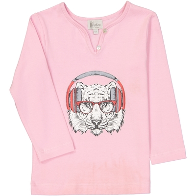 T-Shirt Tigre - Rose