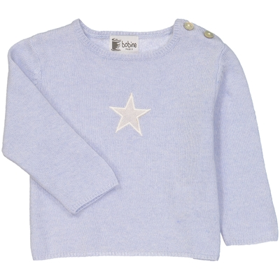 Pull bébé tunisien étoile ciel