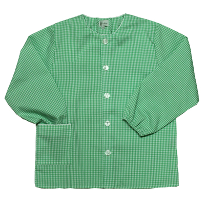 Tablier Ecole Mixte - Vichy vert
