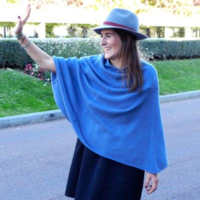 Poncho Femme - Bleu Jean