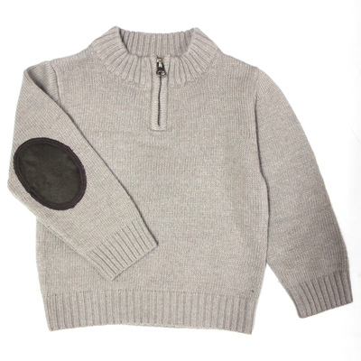PULL COL MONTANT ZIPPÉ Taupe