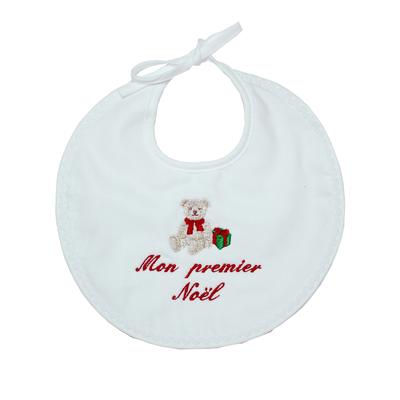 """Bavoir ours """" Mon premier Noël"""""""