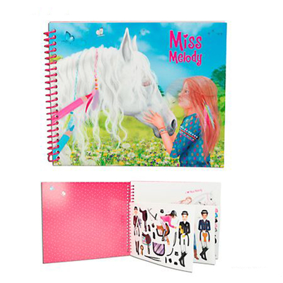 Miss Melody - Album de coloriage