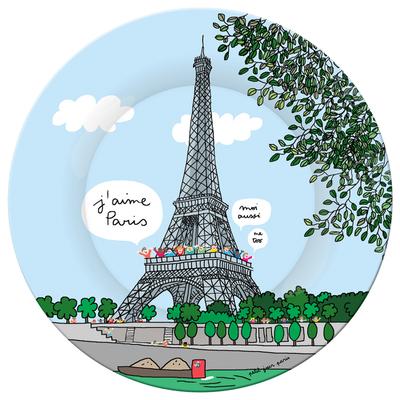 Assiette - Tour Eiffel/Seine