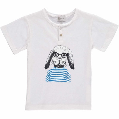 T-shirt blanc - Lapin marin