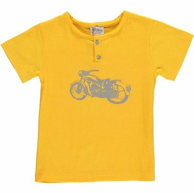 T-shirt jaune - Moto