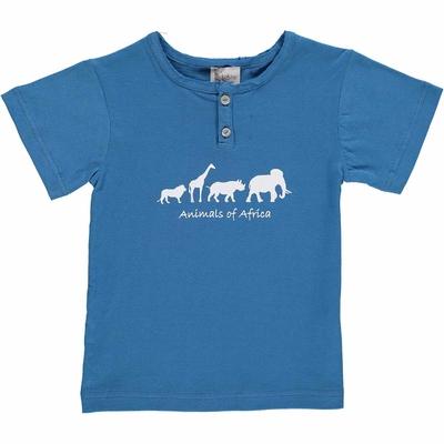 T-shirt bleu jean - Africa
