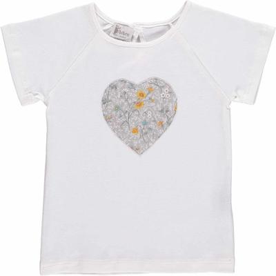 T-shirt MC - Coeur fleuris jaune