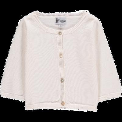 Cardigan bébé blanc en coton