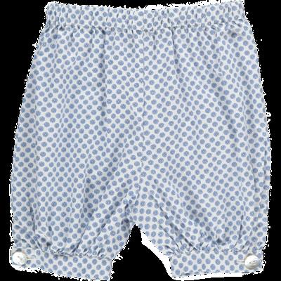 Panty Bébé -Imprimés géométrique bleu