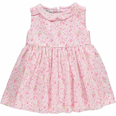Robe bébé Suzette - Imprimés Fleurs Roses