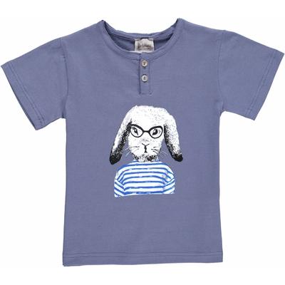 T-shirt bleu encre - Lapin marin