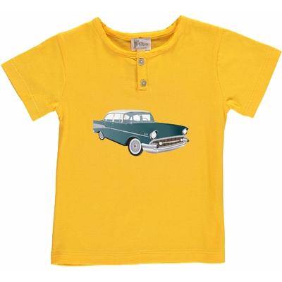 T-shirt jaune - Voiture vintage