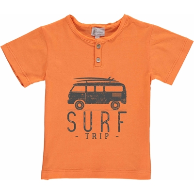 T-shirt orange - Van Surf trip