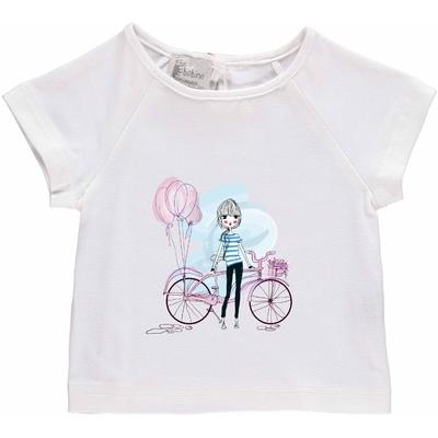 T-shirt bébé Blanc - La parisienne