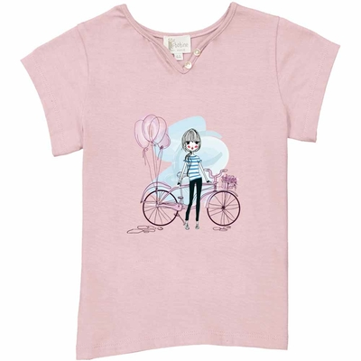 T-shirt Rose - La parisienne