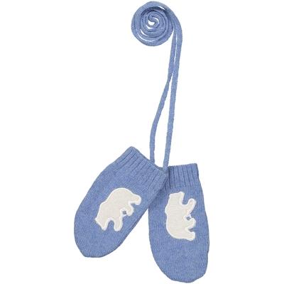 Moufles Bébé Ours - Bleu Jean