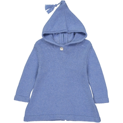 Burnous Zippé - Bleu Pastel