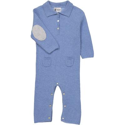 Combinaison Bébé Col Polo - Bleu Jean