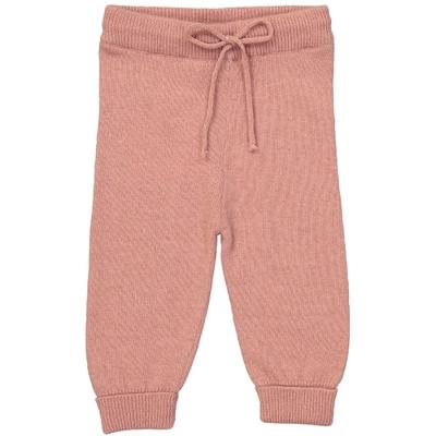 Pantalon bébé vieux rose en laine