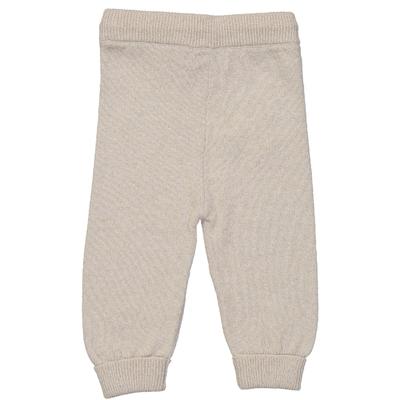 Pantalon bébé blanc pailleté en laine