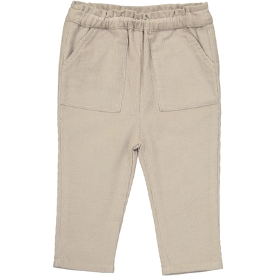 Pantalon bébé garçon en velours sable