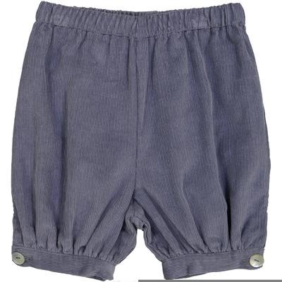 Panty boutonné - Velours Bleu Jean