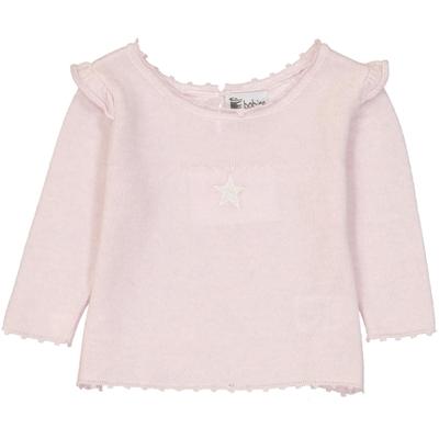 Pull Bébé Épaules Volantées Etoile - Rose