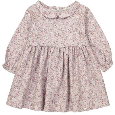 Robe Bébé Suzette - Gris Fleuri Rose<br>Existe uniquement en 6 mois<br>