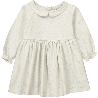 Robe Bébé Suzette - Vert pâle Fleurs de Coton