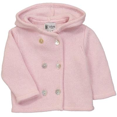 Veste bébé à capuche - Rose
