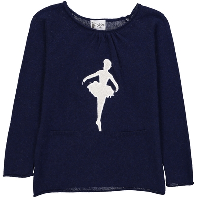 Pull Col Rond Danseuse - Marine
