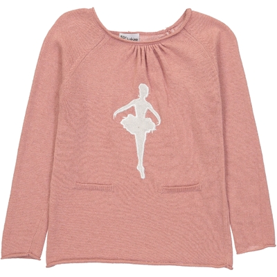 Pull Col Rond Danseuse - Vieux Rose