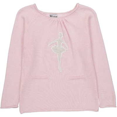 Pull Col Rond Danseuse - Rose
