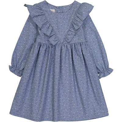 Robe Aïda - Bleu Fleurs de Coton