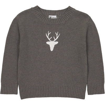 Pull Col Rond Cerf - Taupe