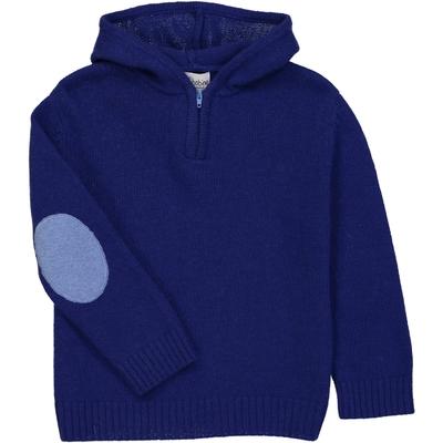 Pull Capuche Zippé - Bleu