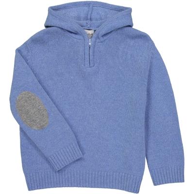 Pull Capuche Zippé - Bleu Jean