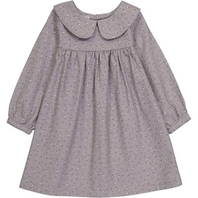 Robe Noélie - Gris Fleurs de Coton