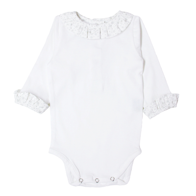 Body Blanc Col Froufrou - Astres