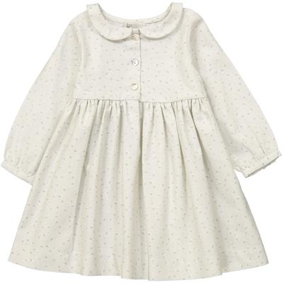 Robe Claire - Vert pâle Fleurs de coton<br>Existe uniquement en 3 et 4 ans<br>