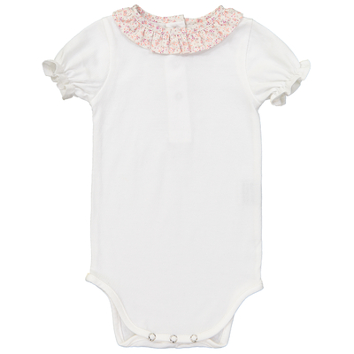 Body Blanc Col Froufrou - Rose Floral