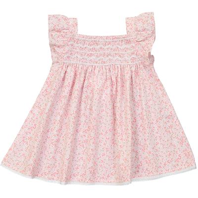 Robe Bébé Atalante - Feuilles Roses