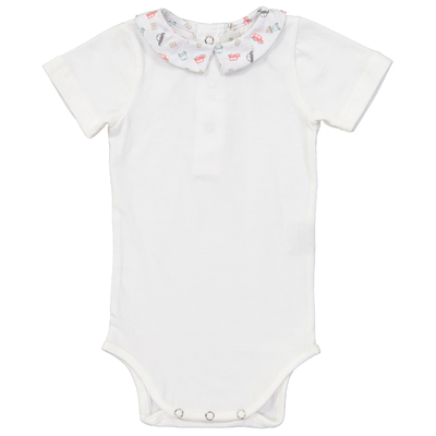 Body Blanc Col Pointu - Voitures