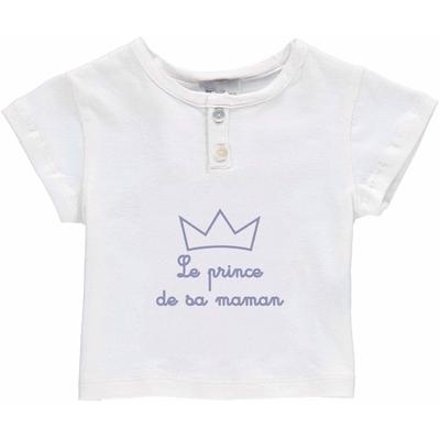 T-Shirt Bébé Blanc - Le Prince de sa Maman