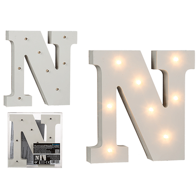 Lettres lumineuses en bois - NOËL