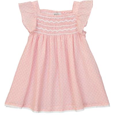 Robe Bébé Atalante - Mosaïque Corail<br>Existe uniquement en 6 mois<br>