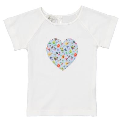 T-shirt fille cœur - Motifs printaniers