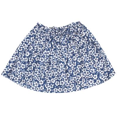 Jupe volantée - Imprimés Fleurs Bleues