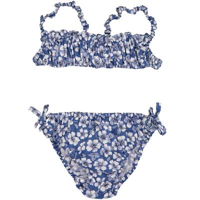 Maillot deux pièces - Imprimés Fleurs Bleues